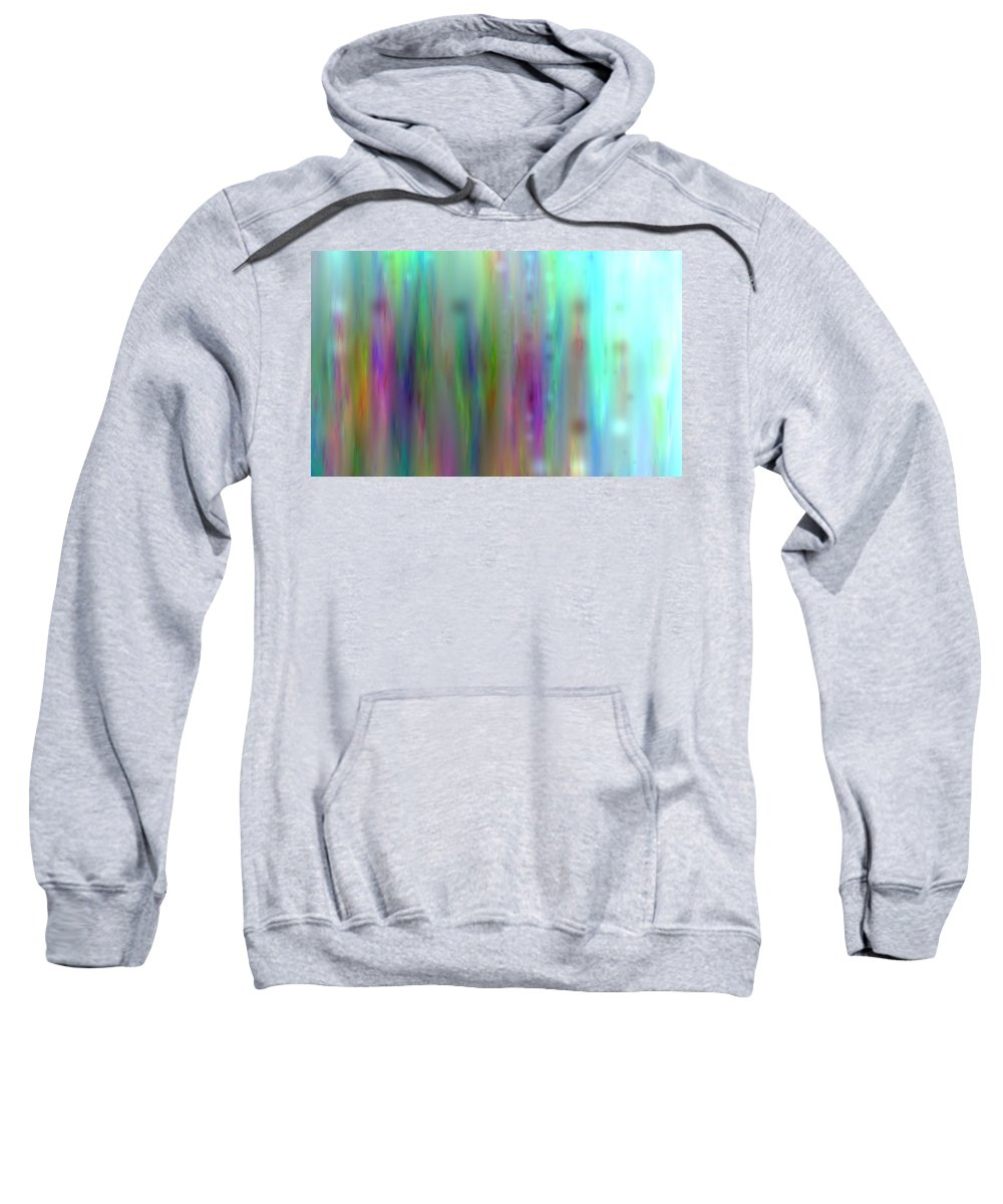 Art Digital Art Sweatshirt featuring the digital art Colour3mlv - Impression 3 by Alex Porter