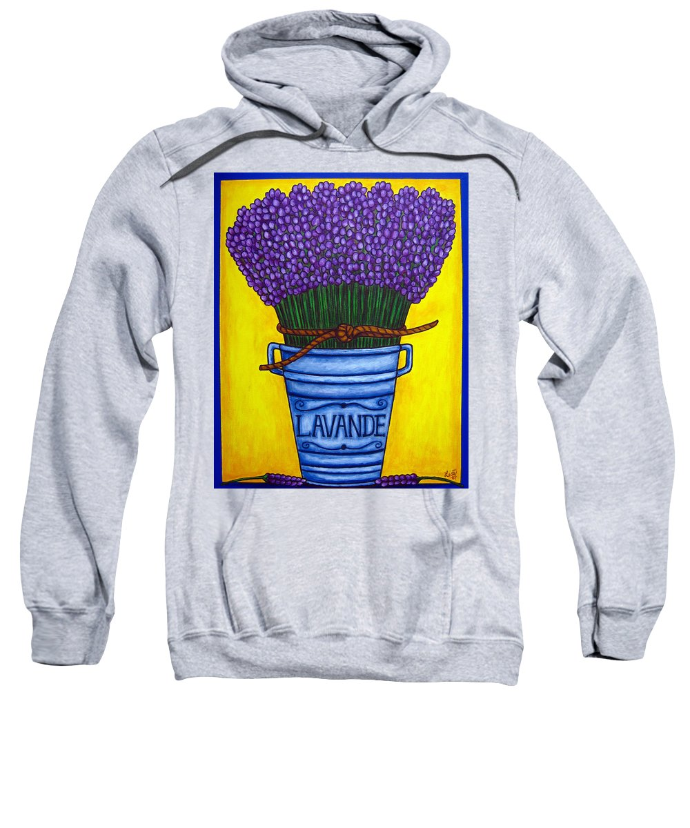 Antique Sweatshirt featuring the painting Colours of Provence by Lisa Lorenz