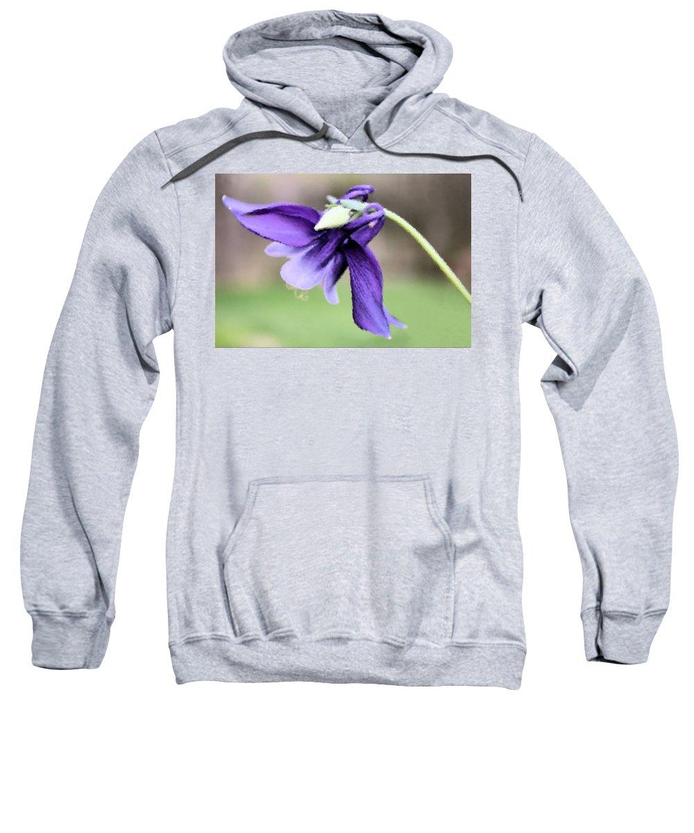 Columbine Sweatshirt featuring the digital art Columbine by Kristin Elmquist