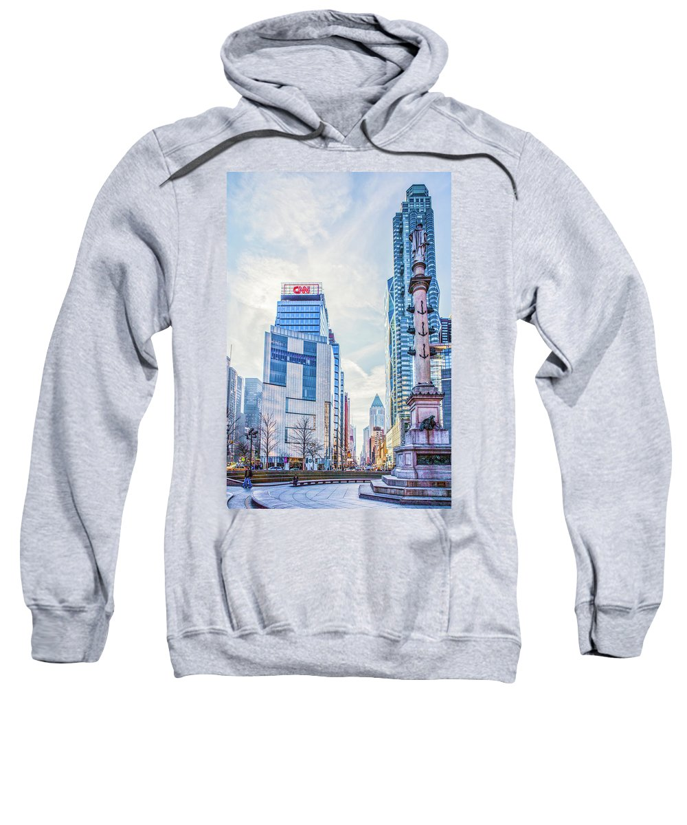 Landscape Sweatshirt featuring the photograph Columbus Circle by Theodore Jones