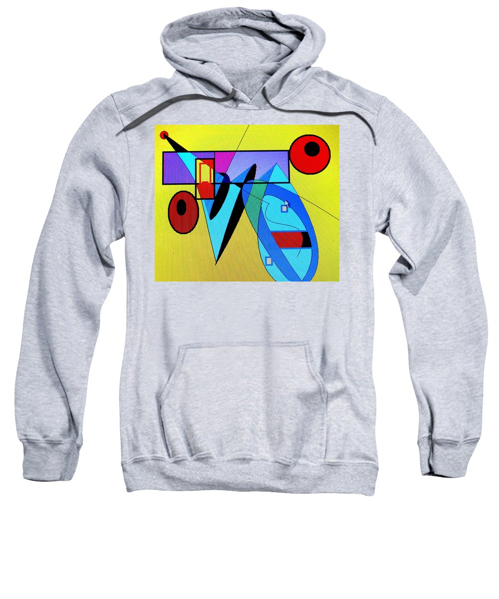 Horn Sweatshirt featuring the digital art Come Blow Your Horn by Ian MacDonald
