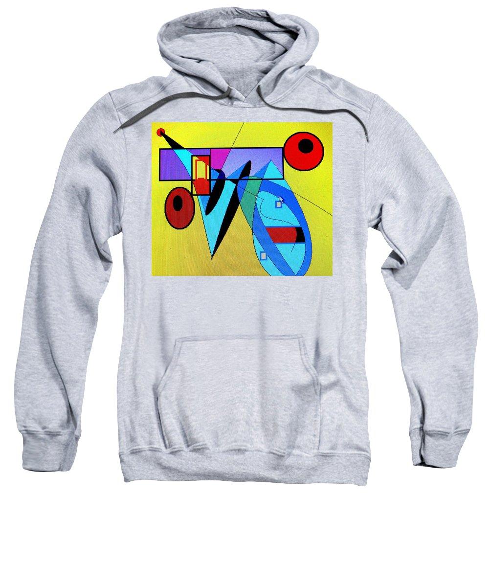 Horn Sweatshirt featuring the digital art Come Blow Your Horn by Ian MacDonald