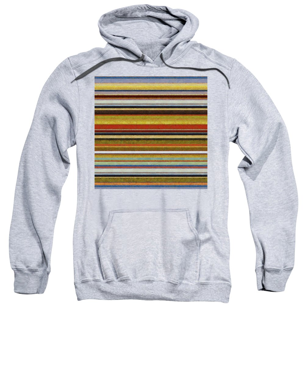 Textured Sweatshirt featuring the digital art Comfortable Stripes Vl by Michelle Calkins