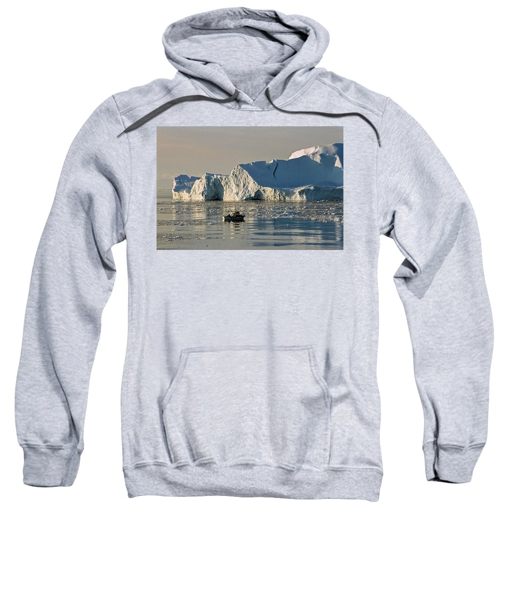 Greenland Sweatshirt featuring the photograph Coming Home - Greenland by Juergen Weiss