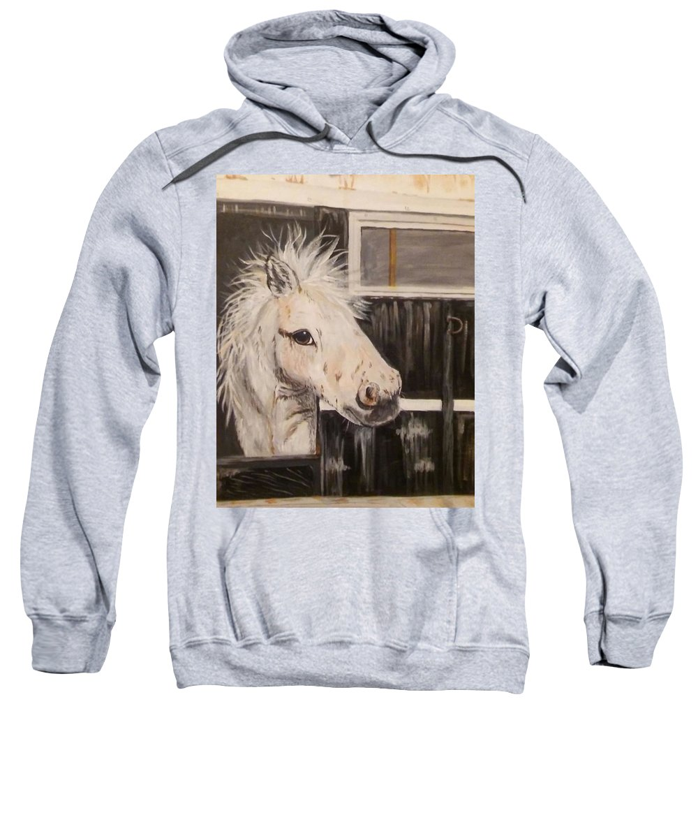 Horse Sweatshirt featuring the painting Coming Home by Estella Mendez