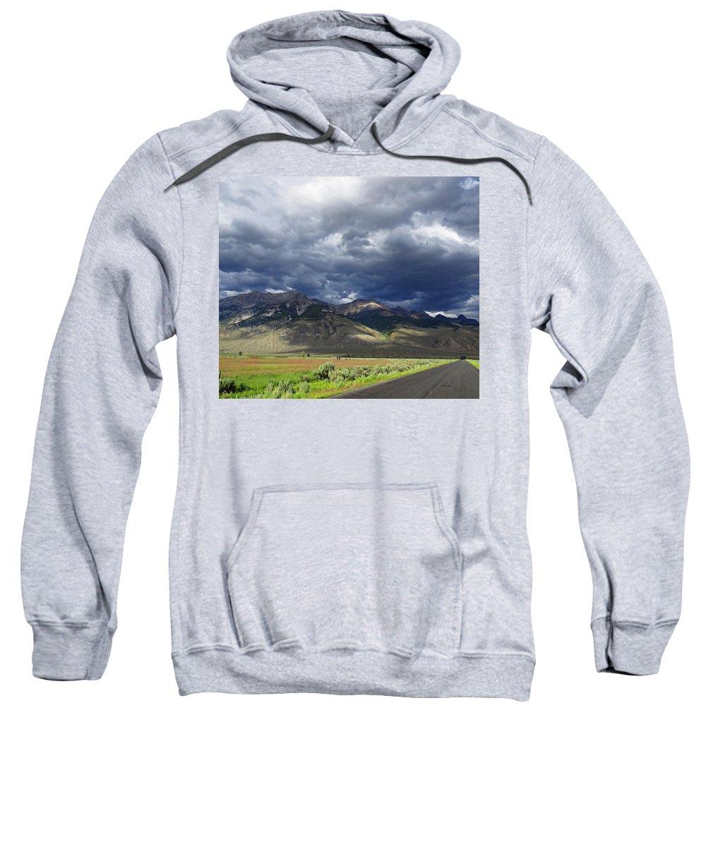 Lost River Range Sweatshirt featuring the photograph Commandments by Dan Dixon