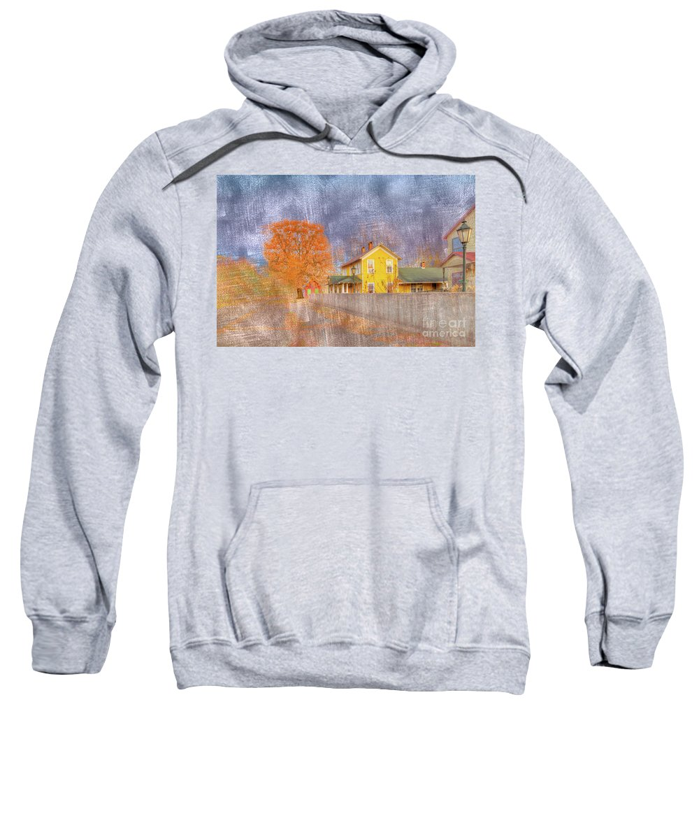 Horizontal Sweatshirt featuring the digital art Commerce Mo by Larry Braun