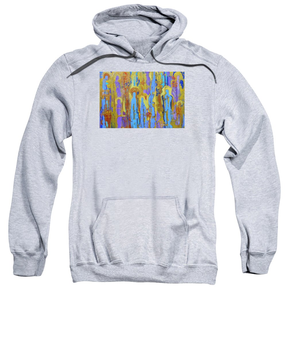 Abstract Sweatshirt featuring the painting Communion Of Saints by Elise Ritter