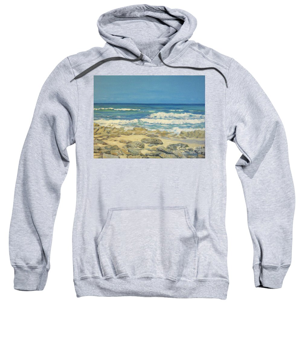 Compass Cay Sweatshirt featuring the painting Compass Cay by Danielle Perry