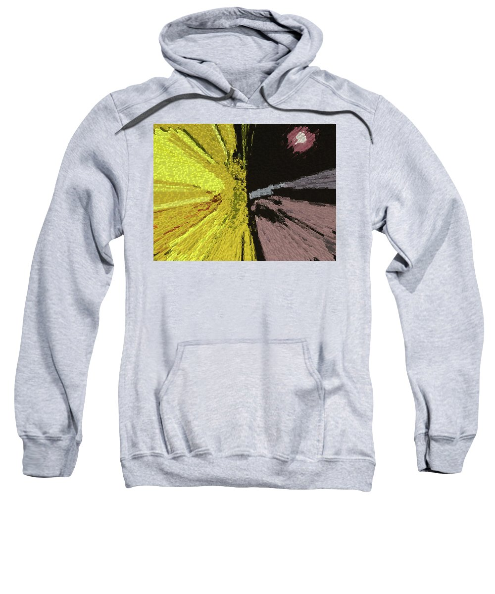 Abstract Sweatshirt featuring the digital art Competing Suns by Lenore Senior