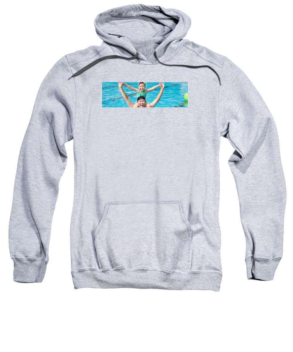 Sarasota Swim School Sweatshirt featuring the photograph Competitive Swimming Classes by Mermaid Swim School