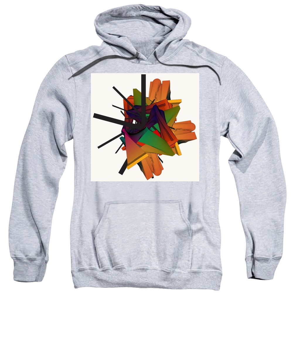 Forms And Colors Sweatshirt featuring the digital art Composition 002 by Yasar Aleem