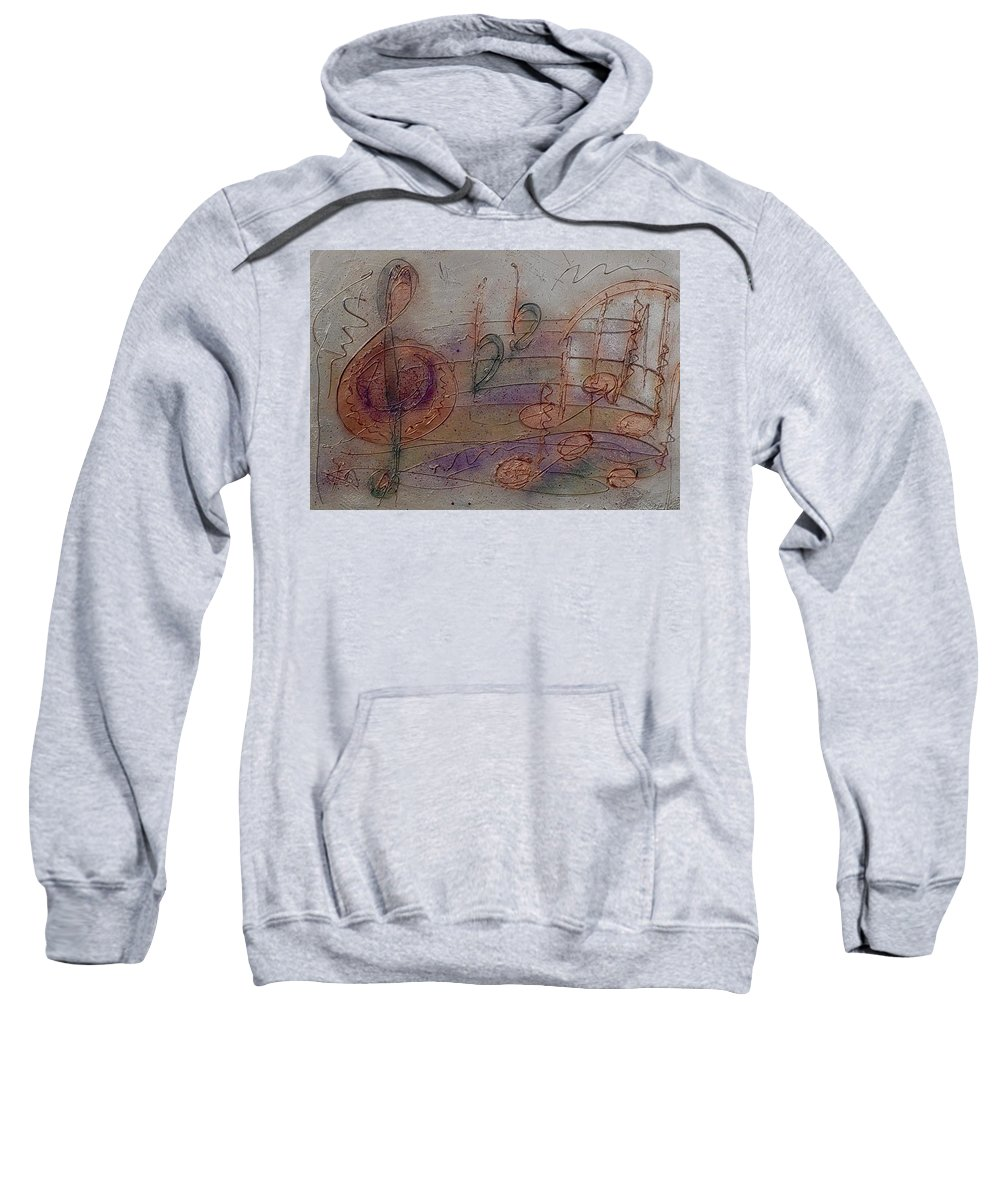 Impressionist Sweatshirt featuring the painting Composition In B Flat by Anita Burgermeister