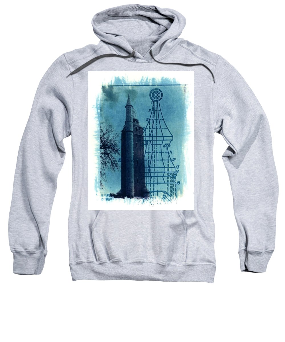 Alternative Process Photography Sweatshirt featuring the photograph Compton Blueprint by Jane Linders