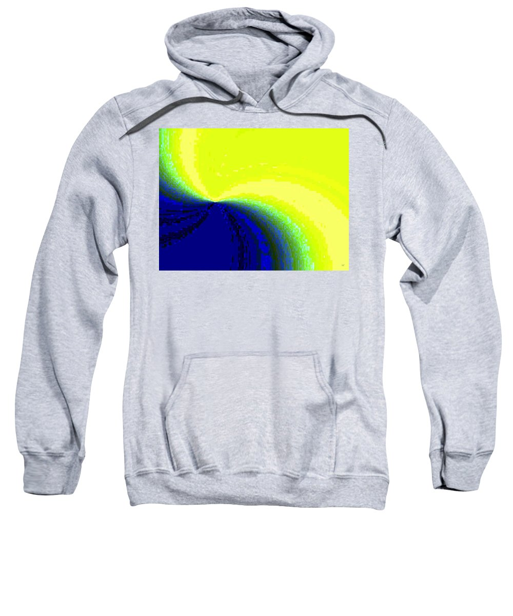 Abstract Sweatshirt featuring the digital art Conceptual 14 by Will Borden