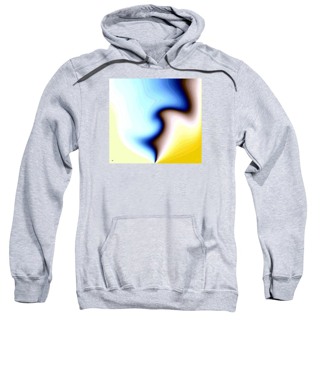 #faceprofileabstract Sweatshirt featuring the digital art Conceptual 7 by Will Borden