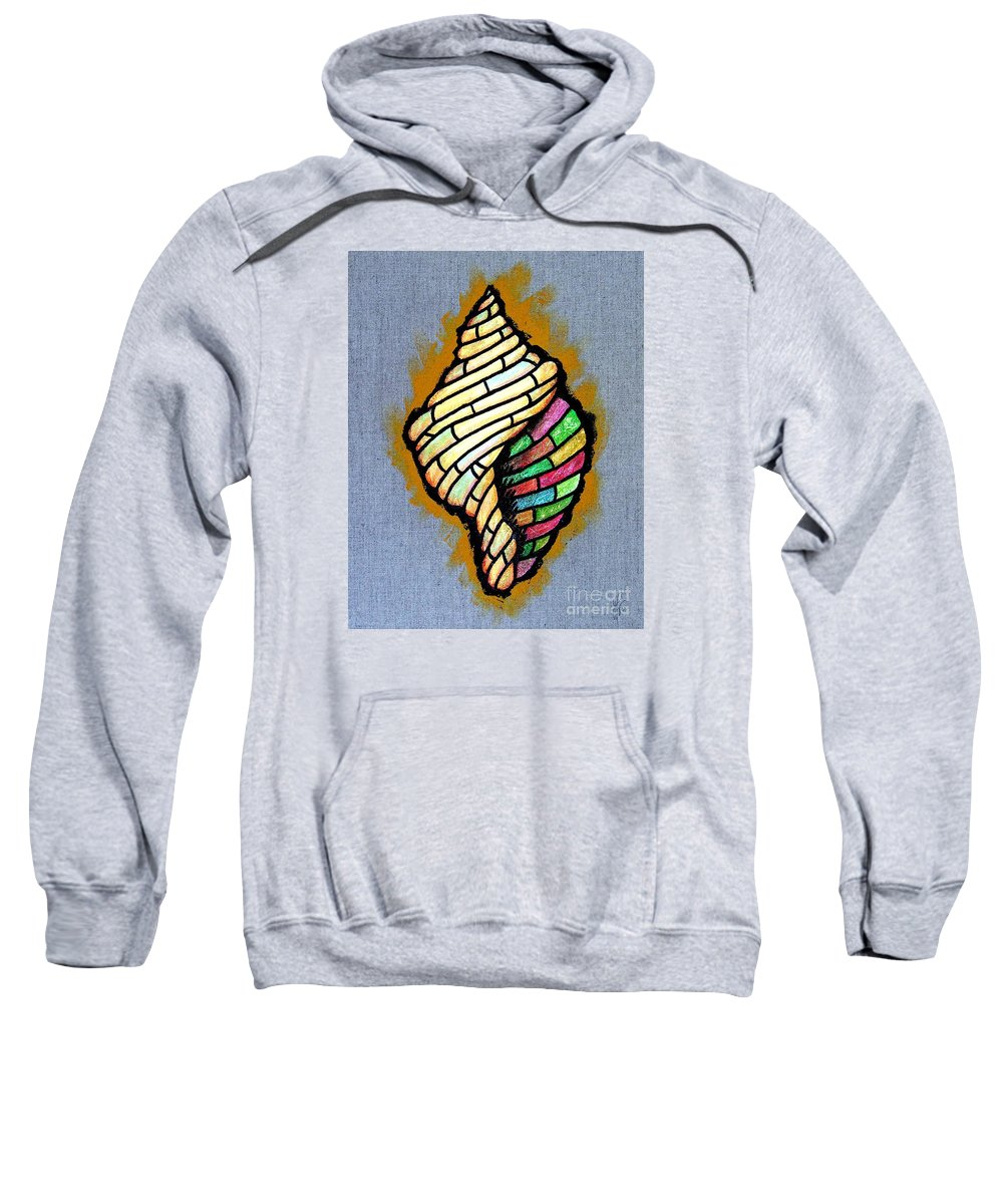 Conch Sweatshirt featuring the painting Conch Shell by Jim Harris