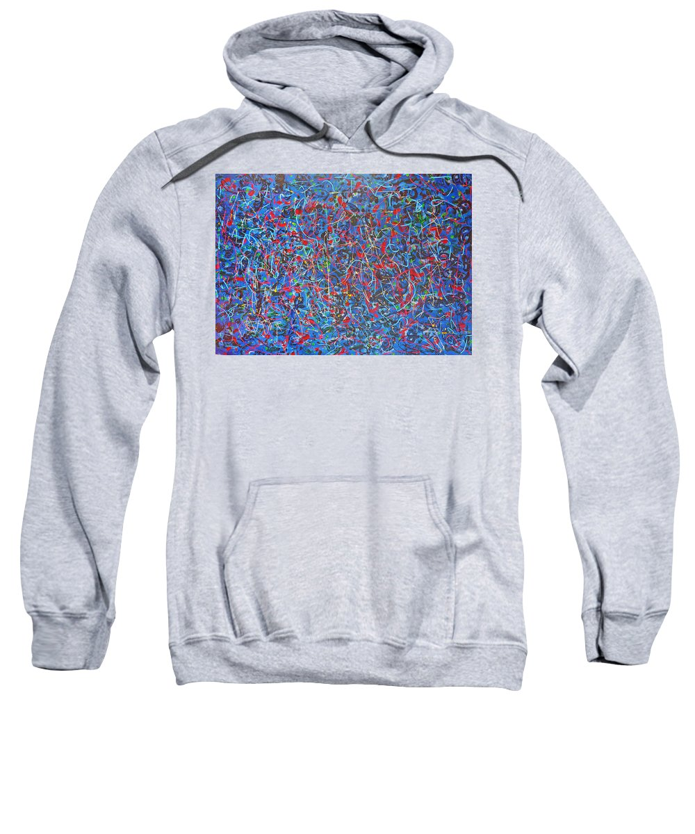 Abstract Sweatshirt featuring the painting Confetti by Ericka Herazo