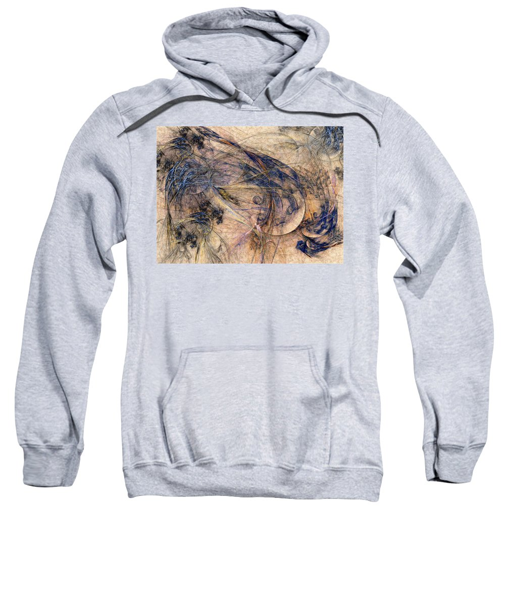 Abstract Sweatshirt featuring the digital art Conflicted by Casey Kotas