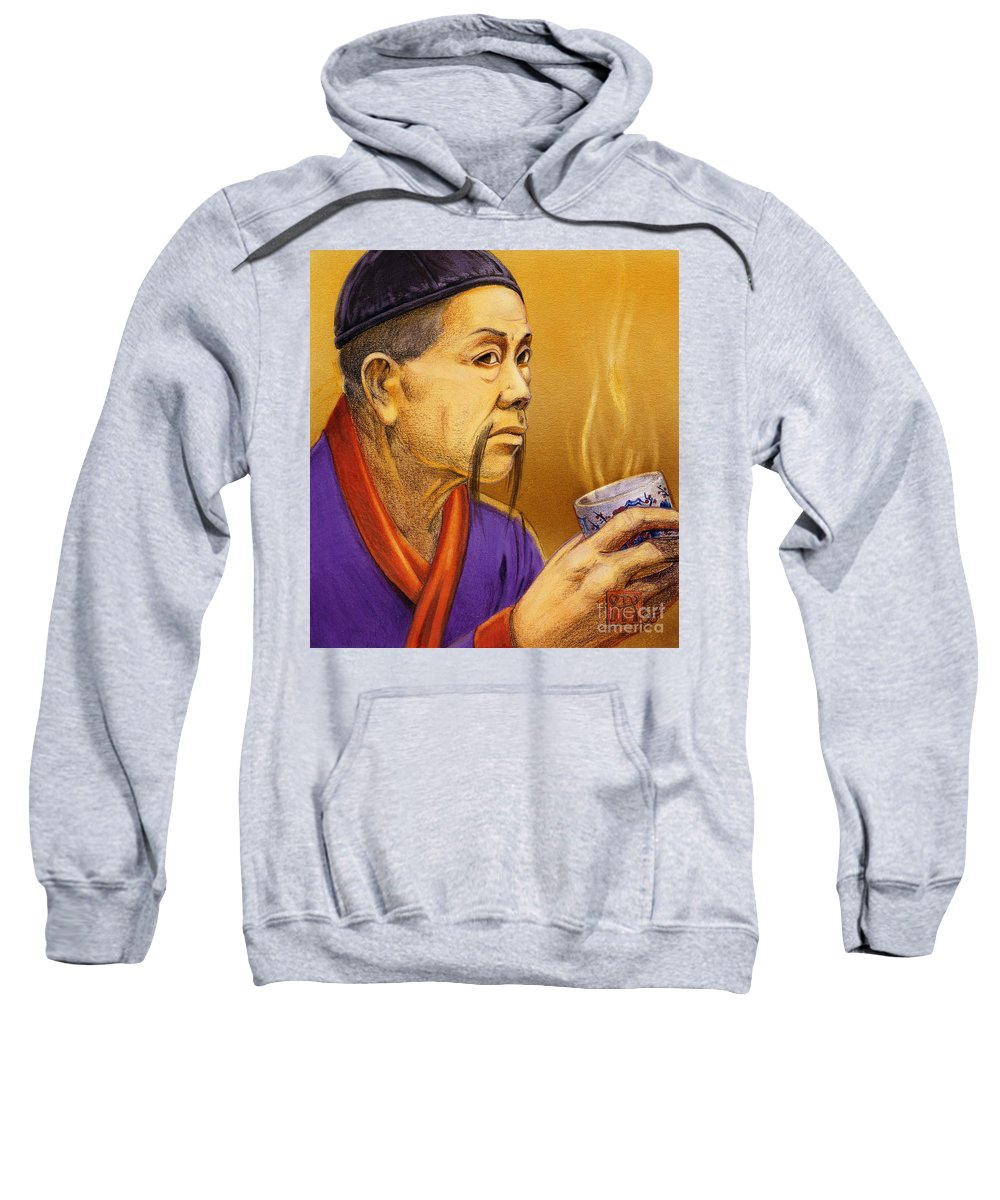 Oriental Sweatshirt featuring the painting Confucian Sage by Melissa A Benson