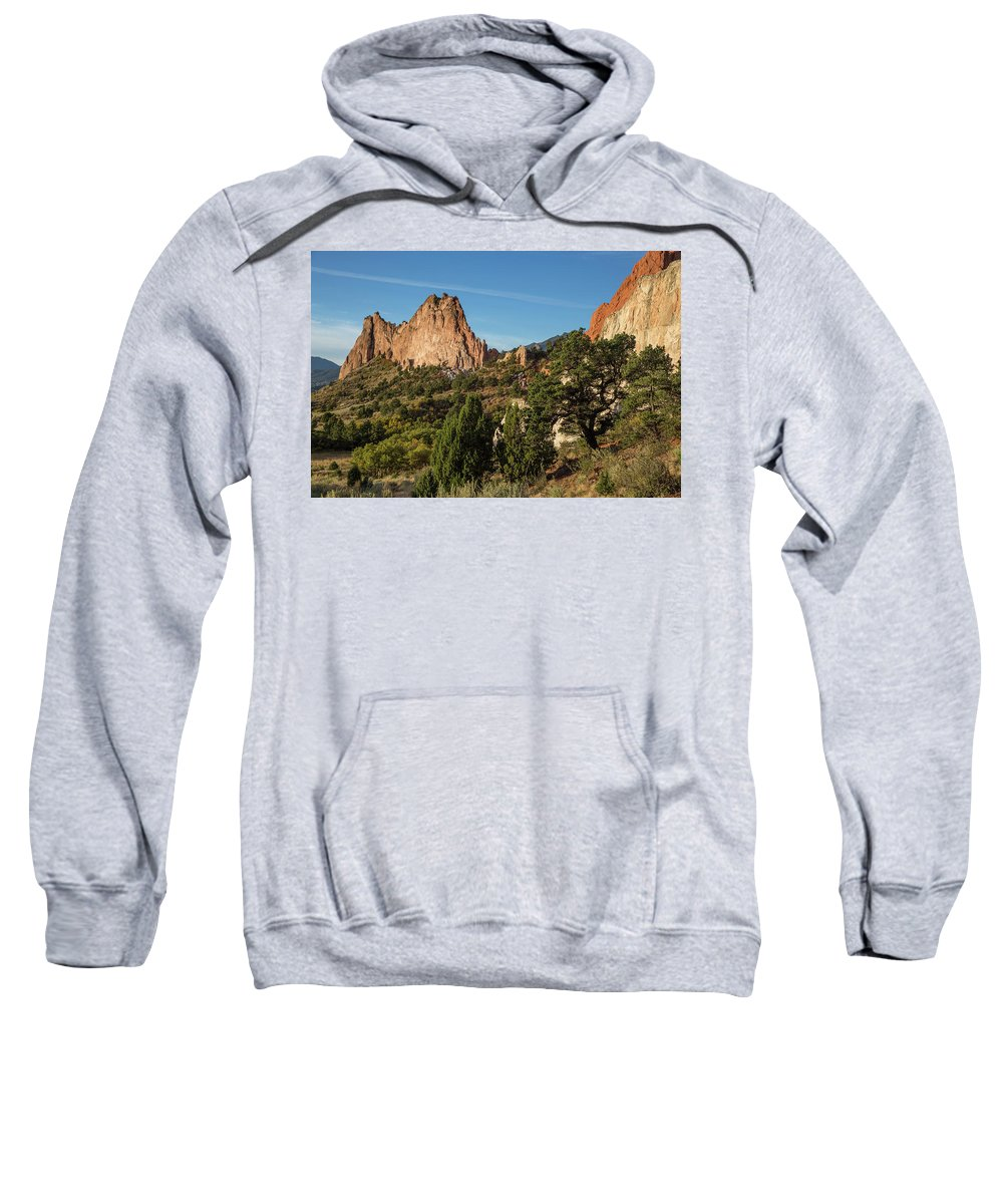 2016 Sweatshirt featuring the photograph Coniferous Trees In The Garden Of The Gods by Bridget Calip