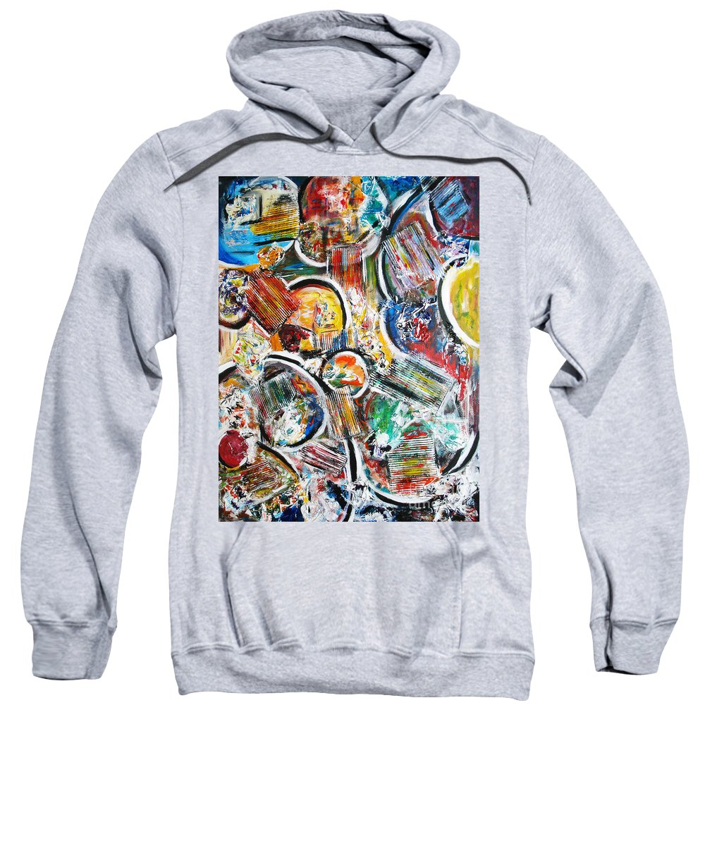 Acrylic Painting Sweatshirt featuring the painting Connection by Yael VanGruber