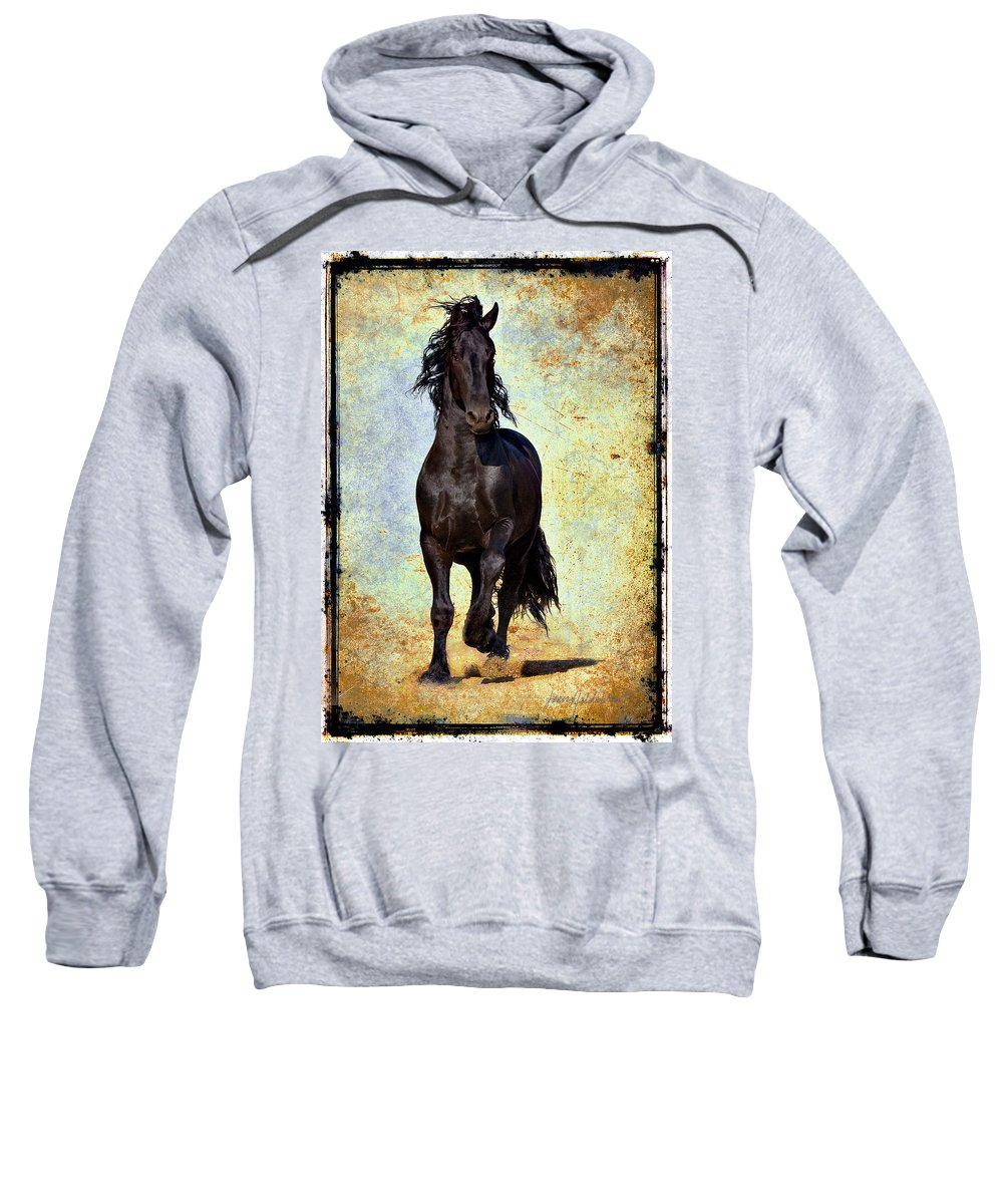 Sweatshirt featuring the photograph Conqueror by Jean Hildebrant