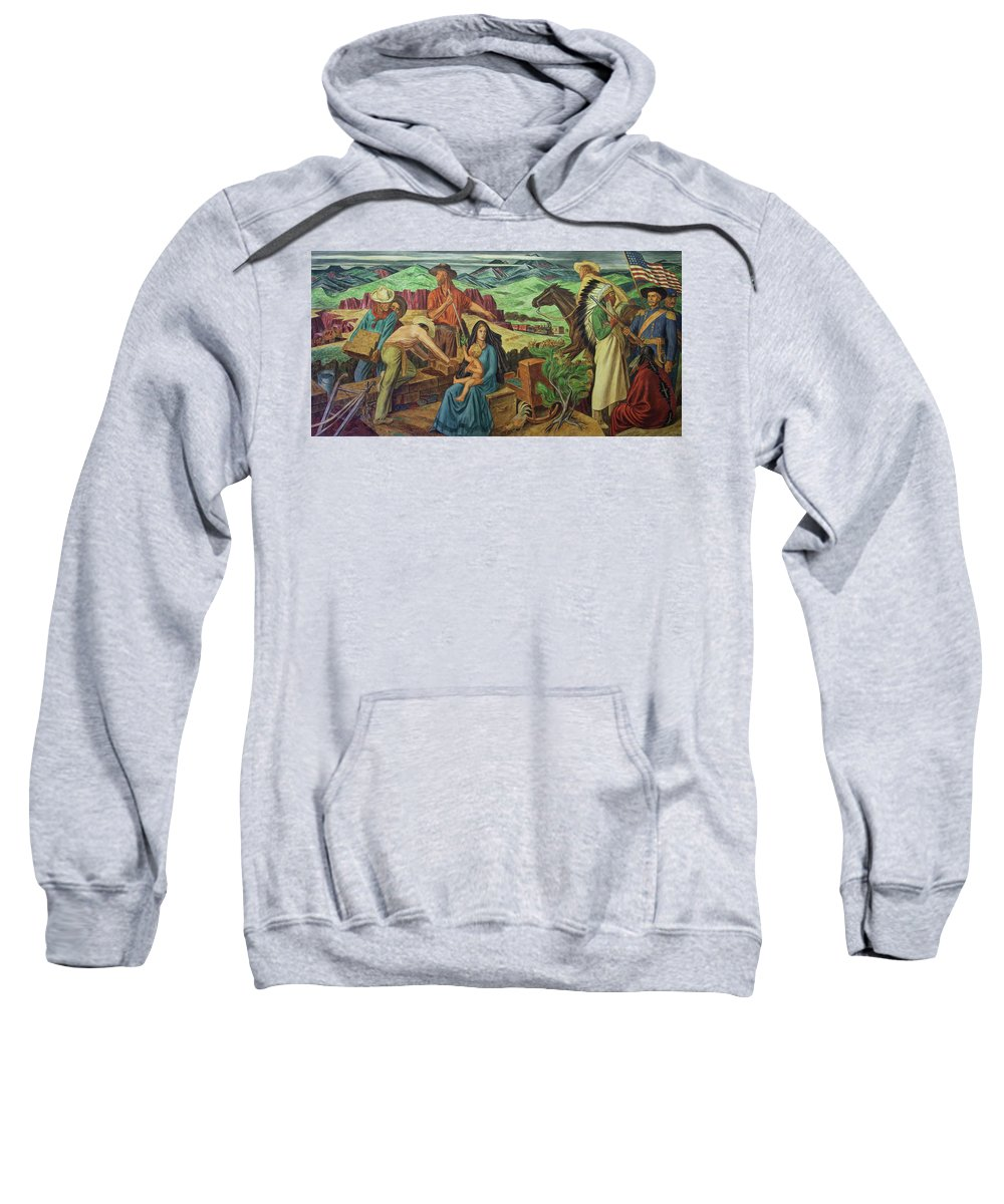Painting Sweatshirt featuring the painting Consolidation Of The West by Mountain Dreams