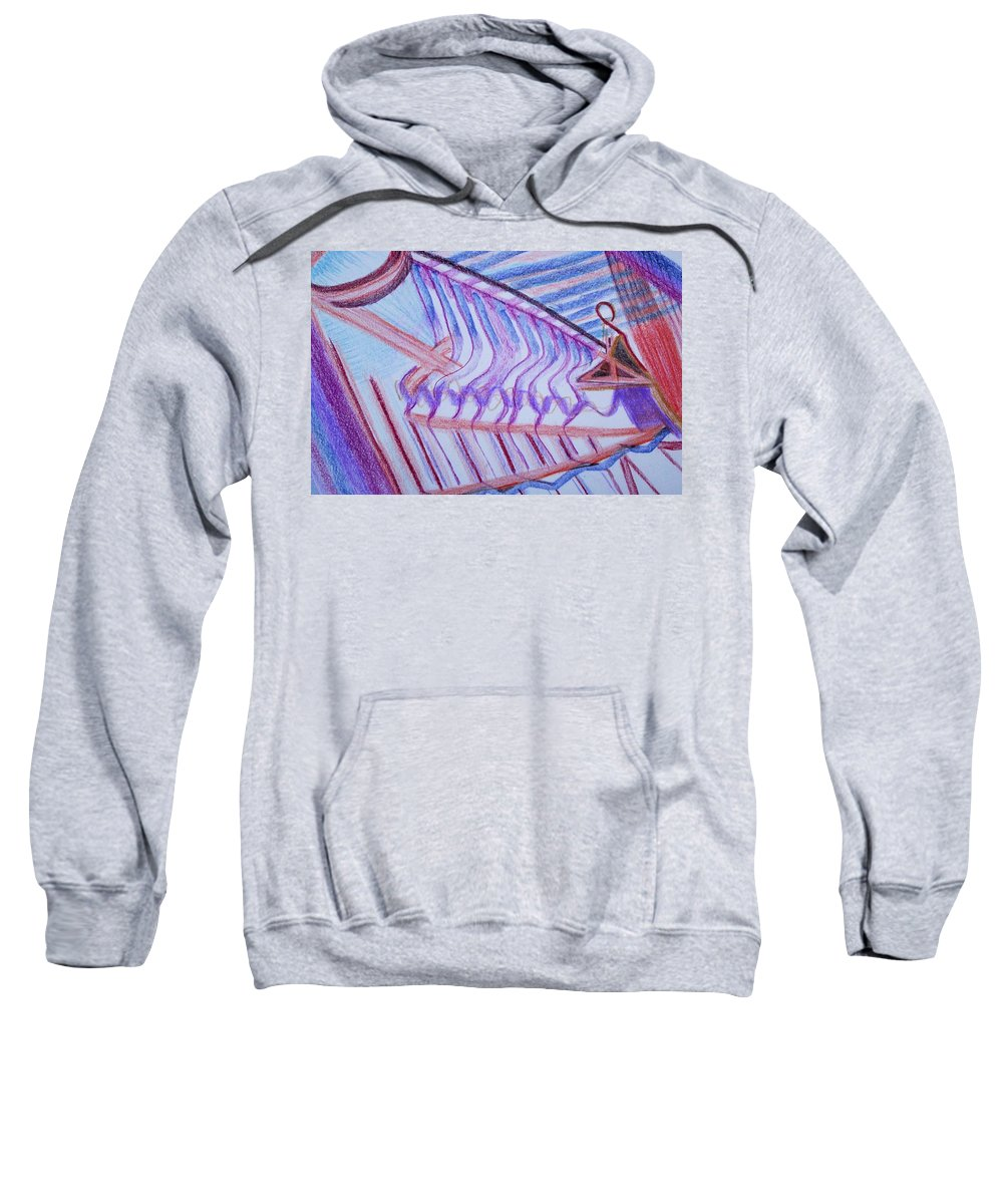 Abstract Sweatshirt featuring the painting Construction by Suzanne Udell Levinger