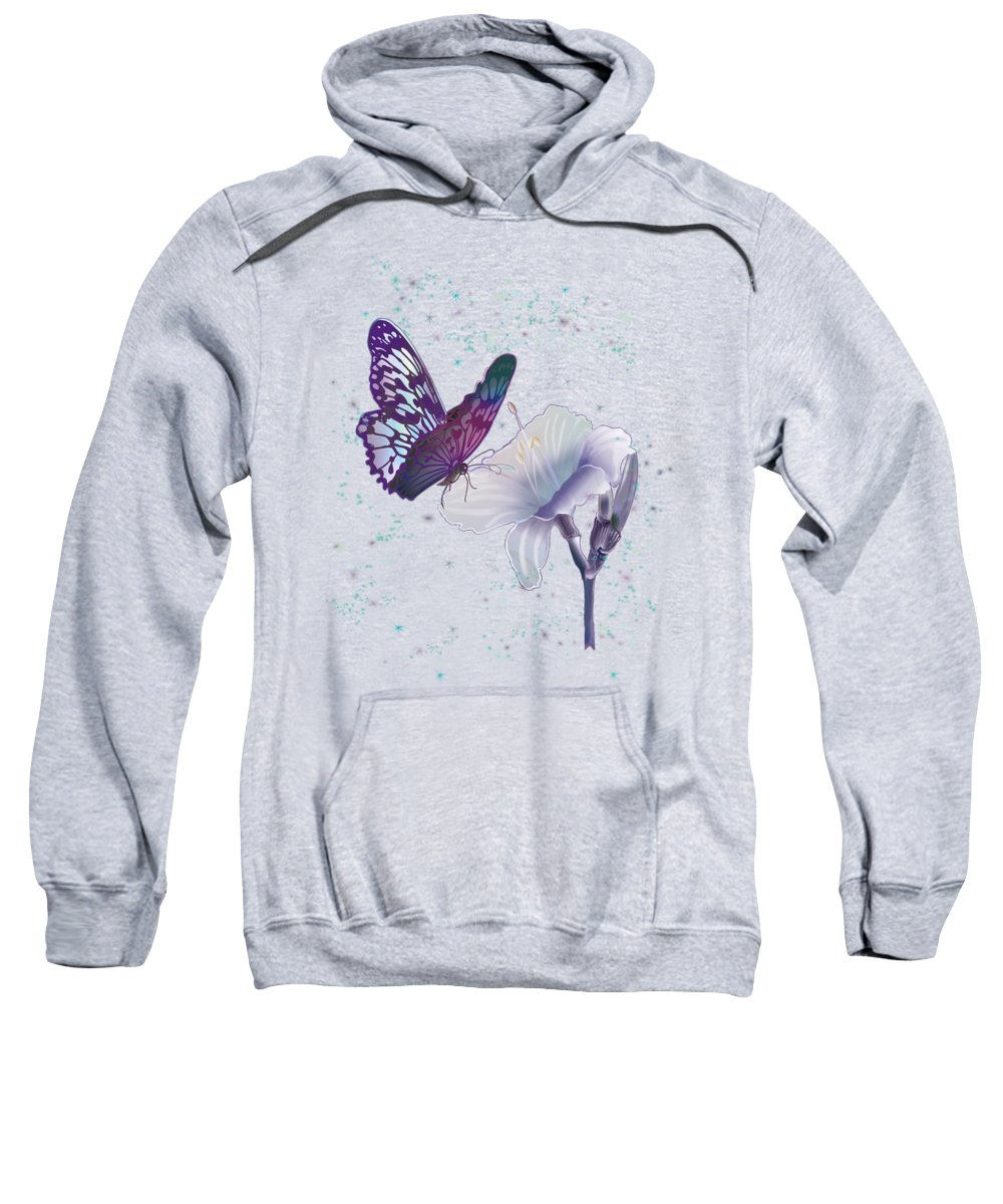 Contemporary Art By Gina Femrite Sweatshirt featuring the painting Contemporary Painting Of A Dancing Butterfly by Regina Femrite