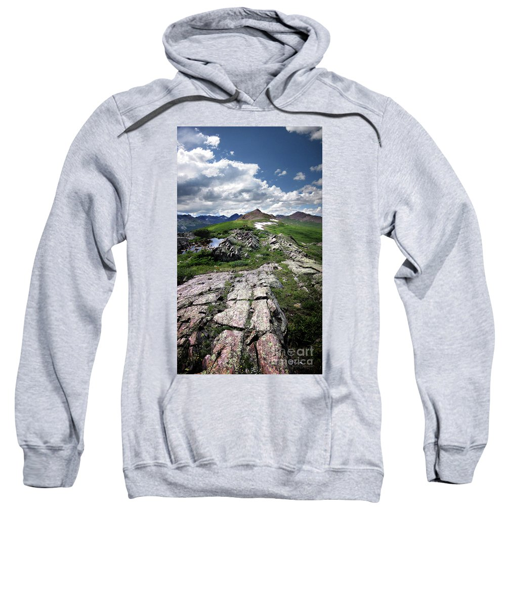 Weminuche Wilderness Sweatshirt featuring the photograph Continental Divide Above Twin Lakes 6 - Weminuche Wilderness by Bruce Lemons