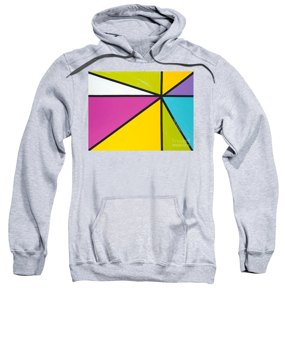 Lines Sweatshirt featuring the painting Convergence by Nadine Rippelmeyer
