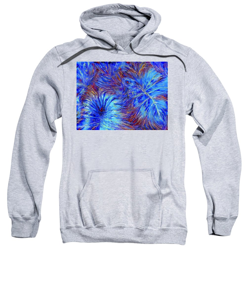Blue Sweatshirt featuring the photograph Cool Blue by Ian MacDonald