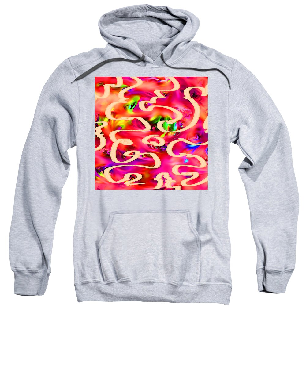 Abstract Sweatshirt featuring the digital art Cool Colors by Rachel Christine Nowicki