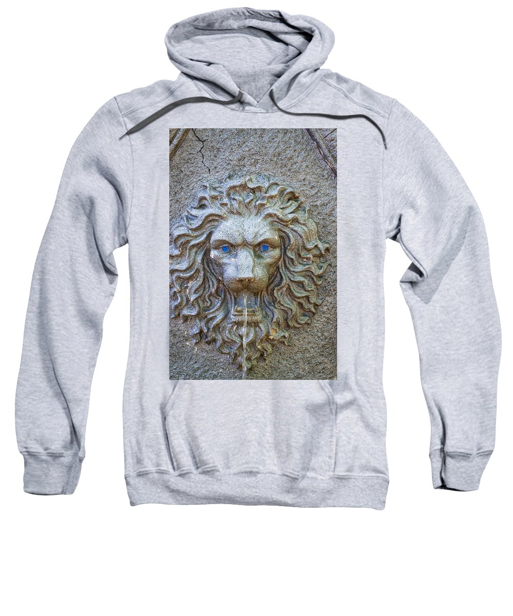 Fountain Sweatshirt featuring the photograph Cool Sip Of Water by Ronald Watkins