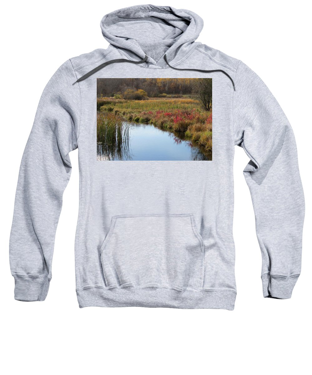 Fall Sweatshirt featuring the photograph Cool Waters by Joni Moseng