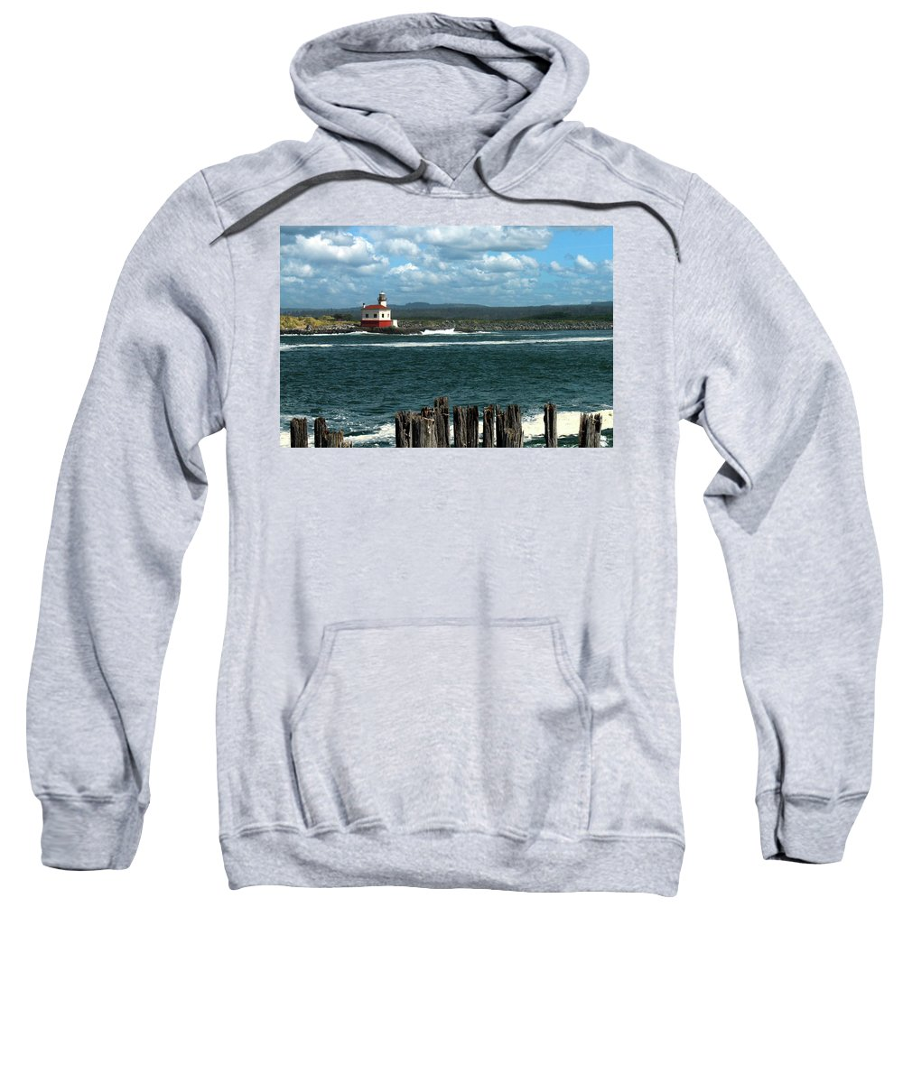 Lighthouse Sweatshirt featuring the photograph Coquille River Lighthouse by James Eddy