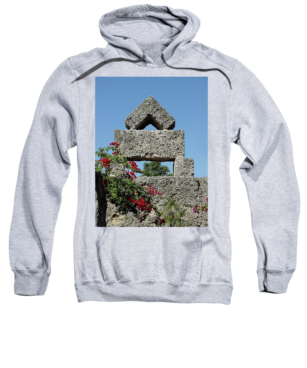 Sunlight Sweatshirt featuring the photograph Coral Castle For Love by Shirley Heyn