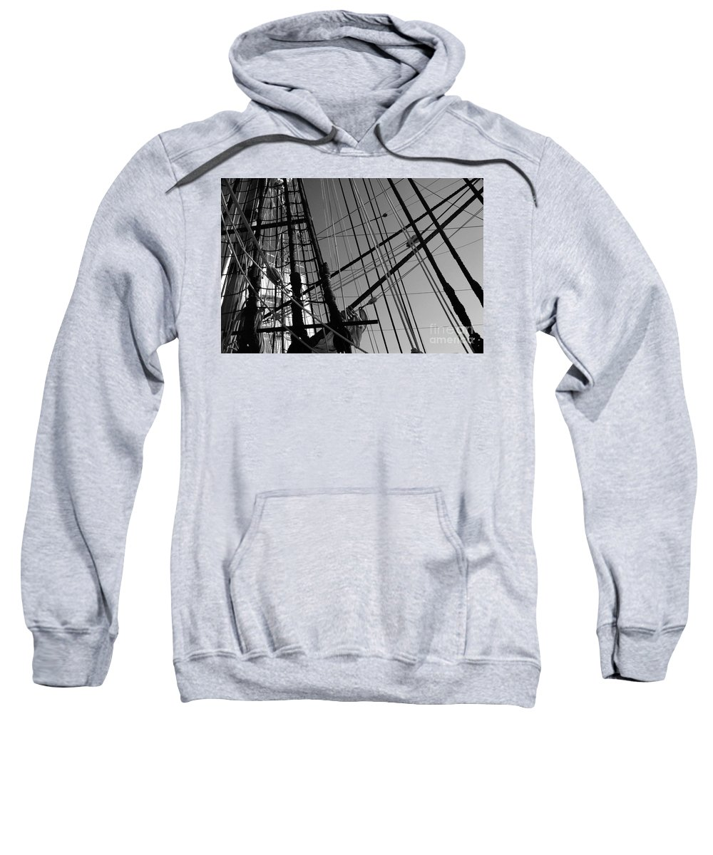 Maritime Sweatshirt featuring the photograph Cordage by Linda Shafer