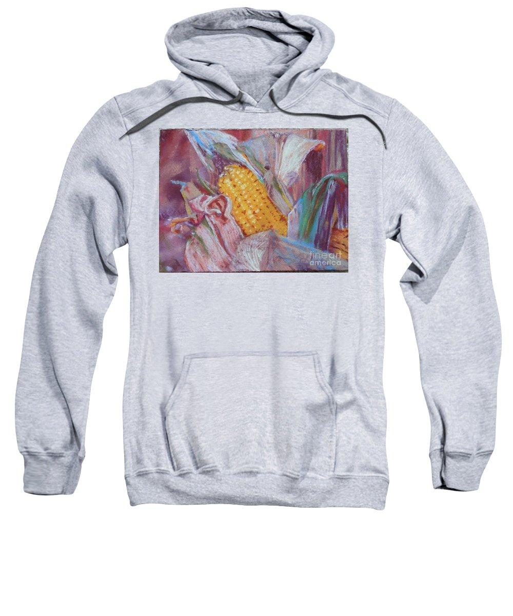 Corn Sweatshirt featuring the photograph Corn Maize by Camilla Hale