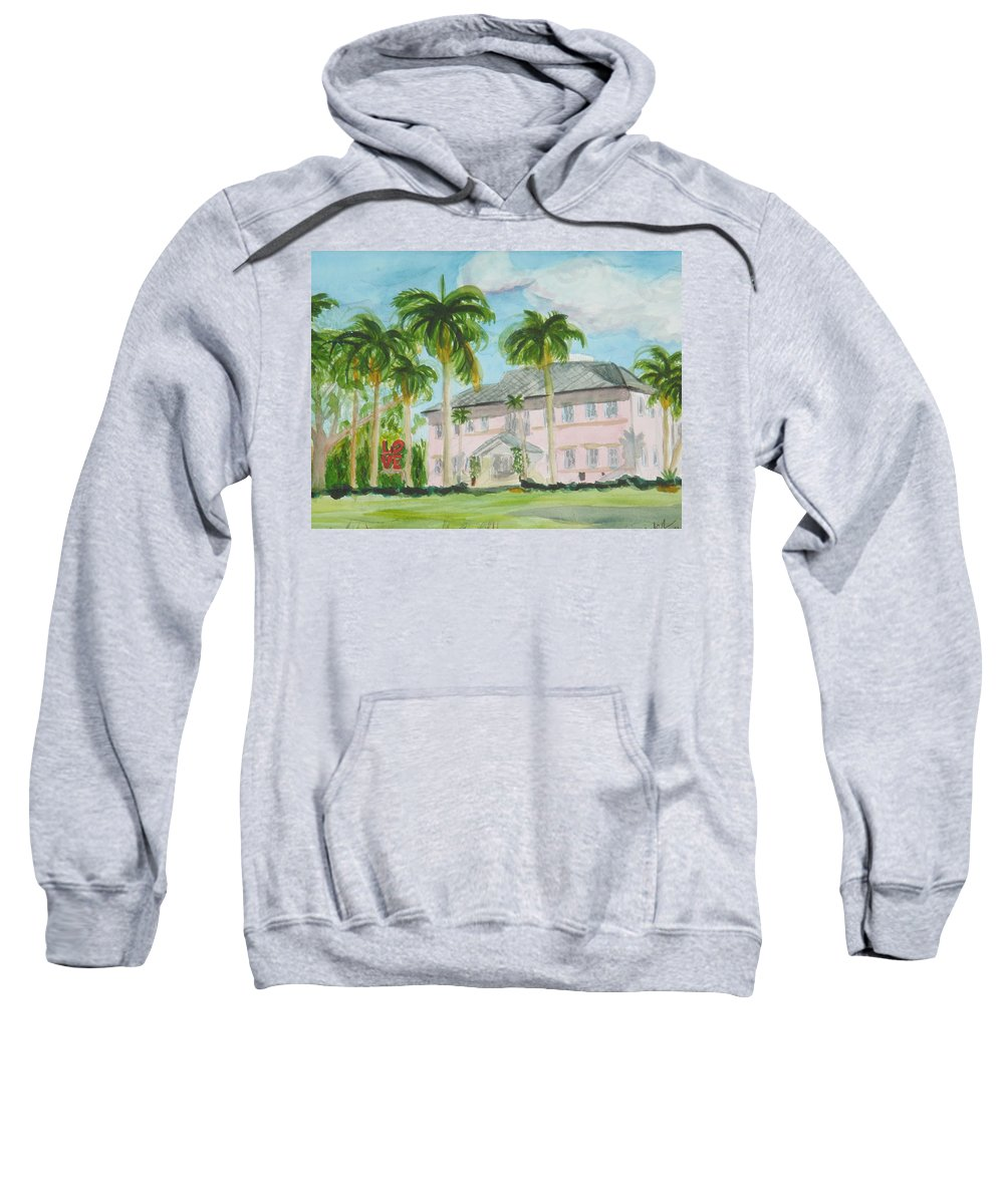Cornell Museum Sweatshirt featuring the painting Cornell Museum by Donna Walsh