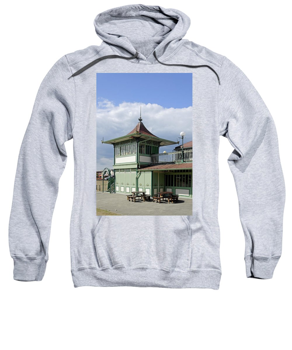 Ryde Sweatshirt featuring the photograph Corner Detail Of The Pavilion - Ryde by Rod Johnson