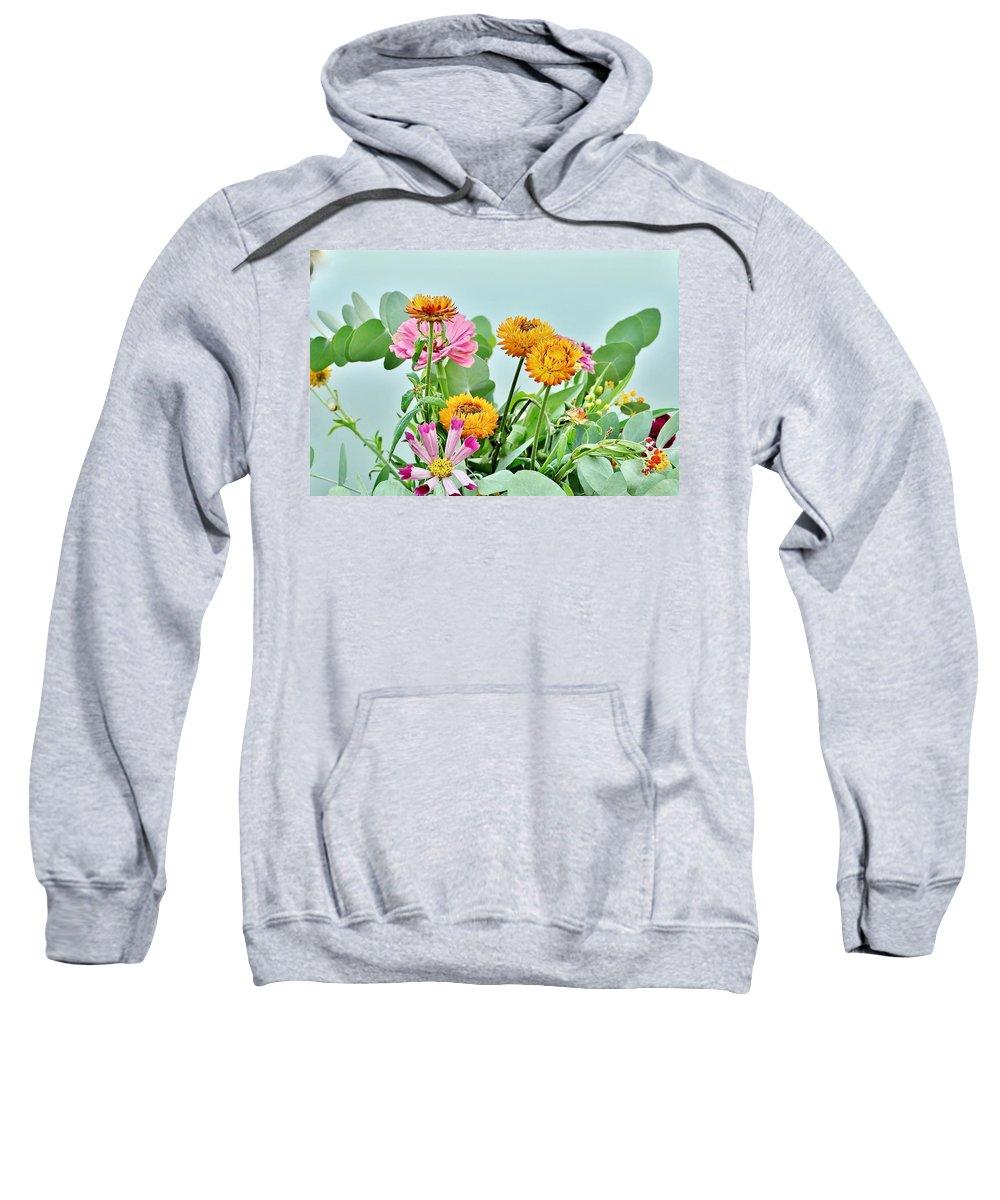 Cornflower Sweatshirt featuring the photograph Cornflowers 20 by Kim Bemis