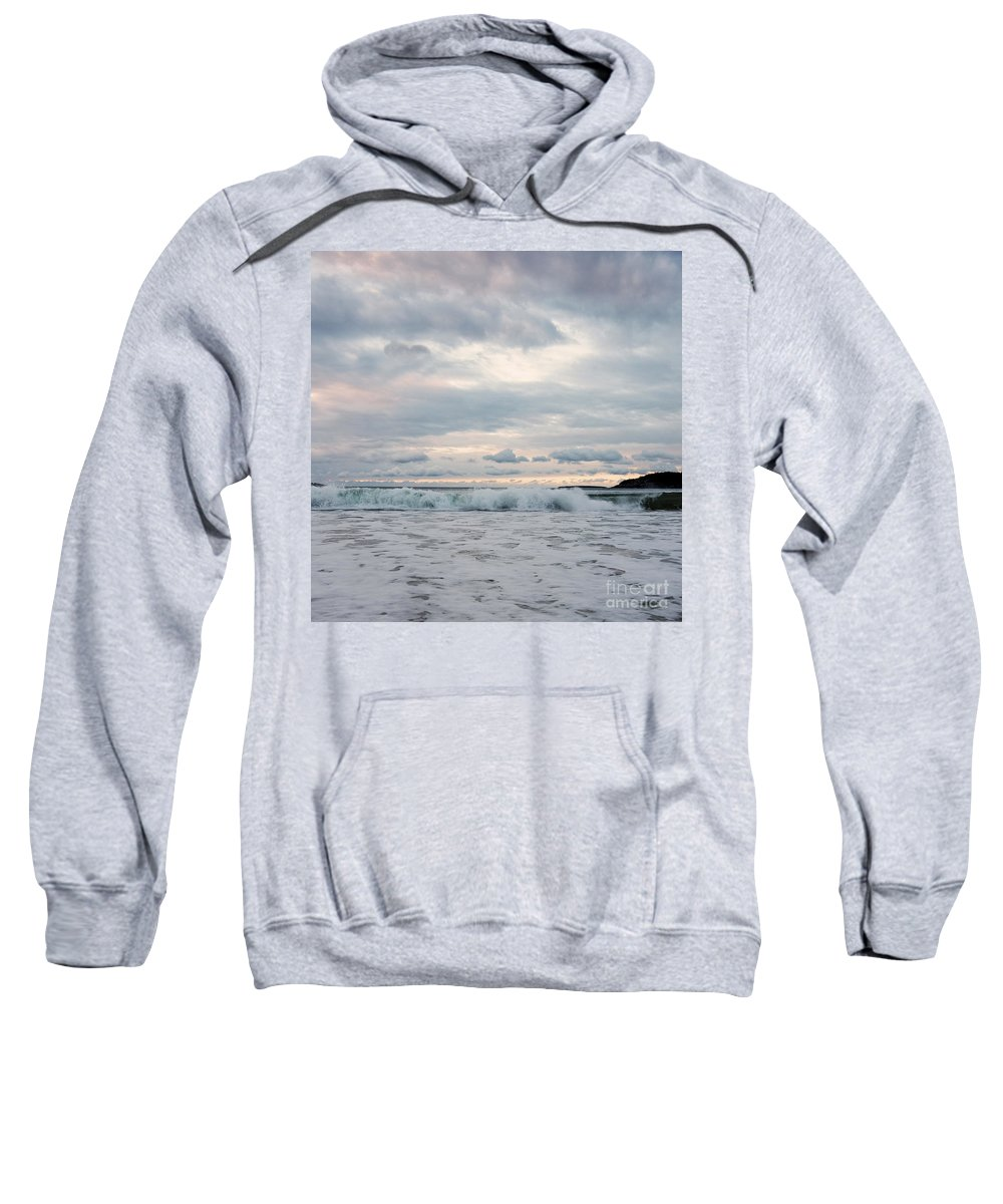 Beach Sweatshirt featuring the photograph Cotton Candy Skies by Susan Garver