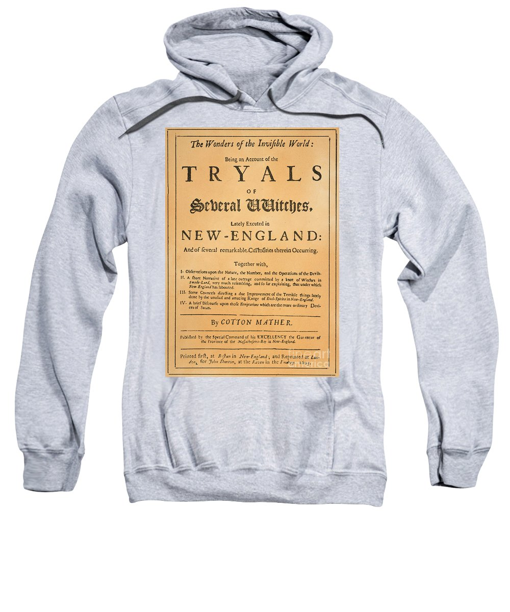 1693 Sweatshirt featuring the photograph Cotton Mather, 1693 by Granger