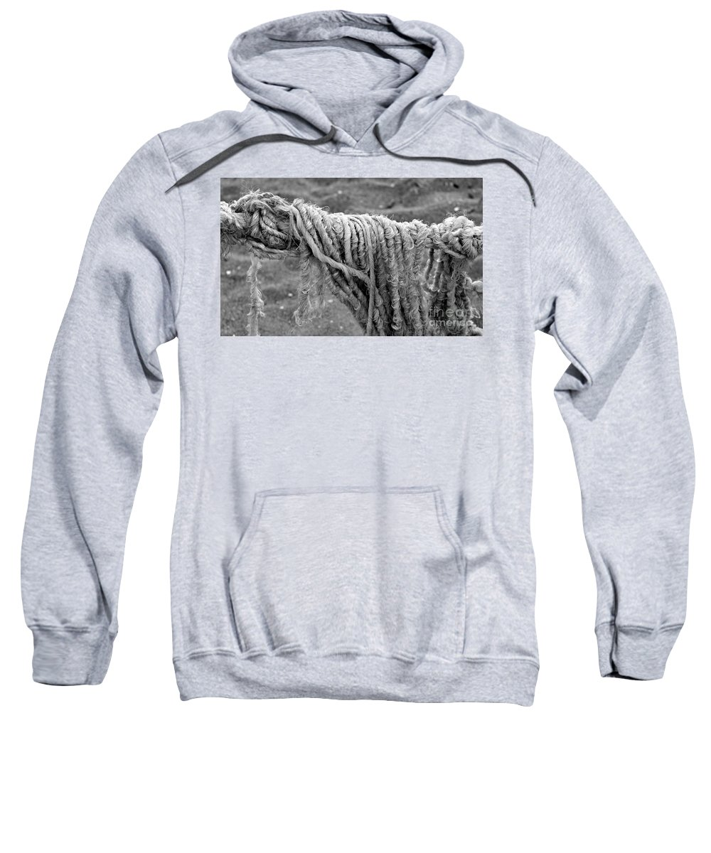 Rope Sweatshirt featuring the photograph Cotton Textures by Clare Bevan