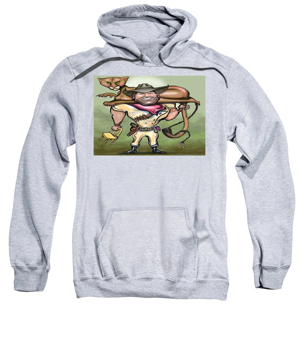 Cougar Sweatshirt featuring the digital art Cougar Trainer by Kevin Middleton