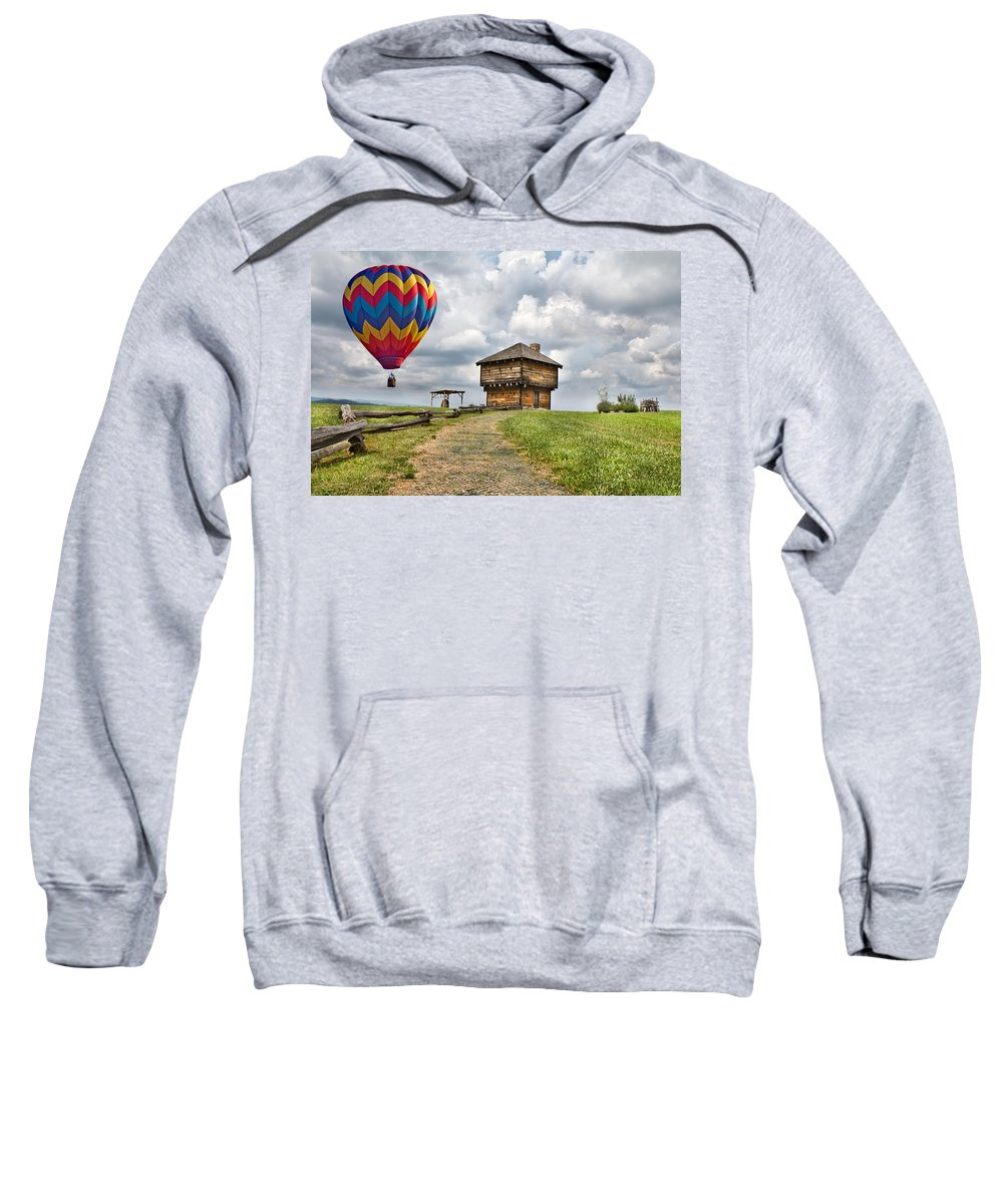 Hot Sweatshirt featuring the digital art Country Cruising by Betsy Knapp