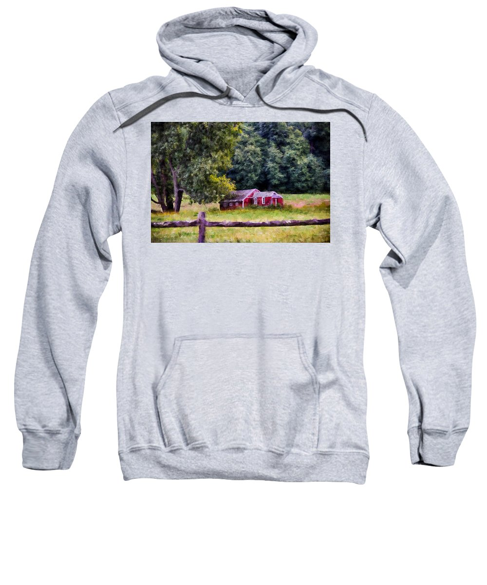 Red Sweatshirt featuring the photograph Country Living by Tricia Marchlik