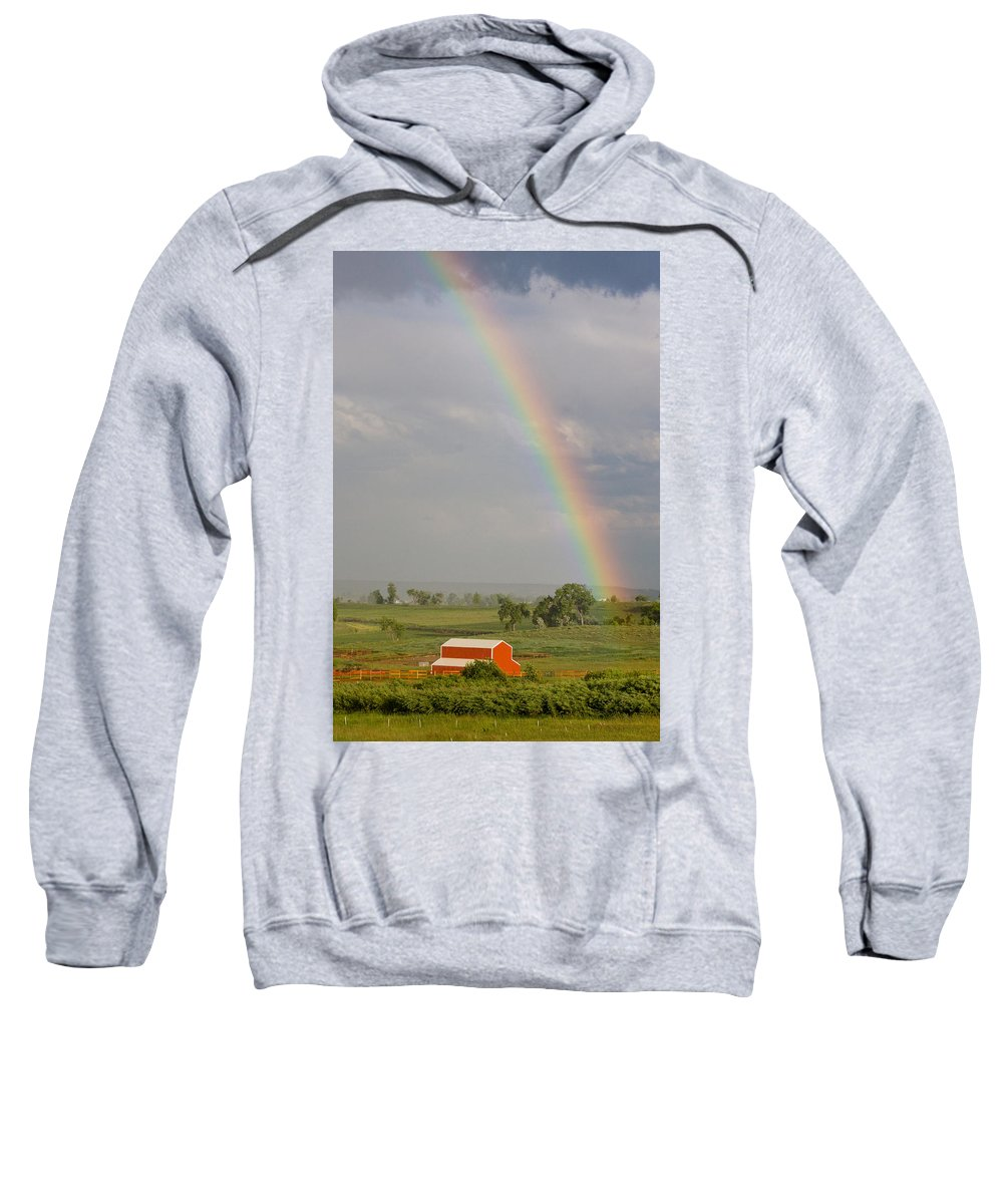 Rainbow Sweatshirt featuring the photograph Country Rainbow by James BO Insogna
